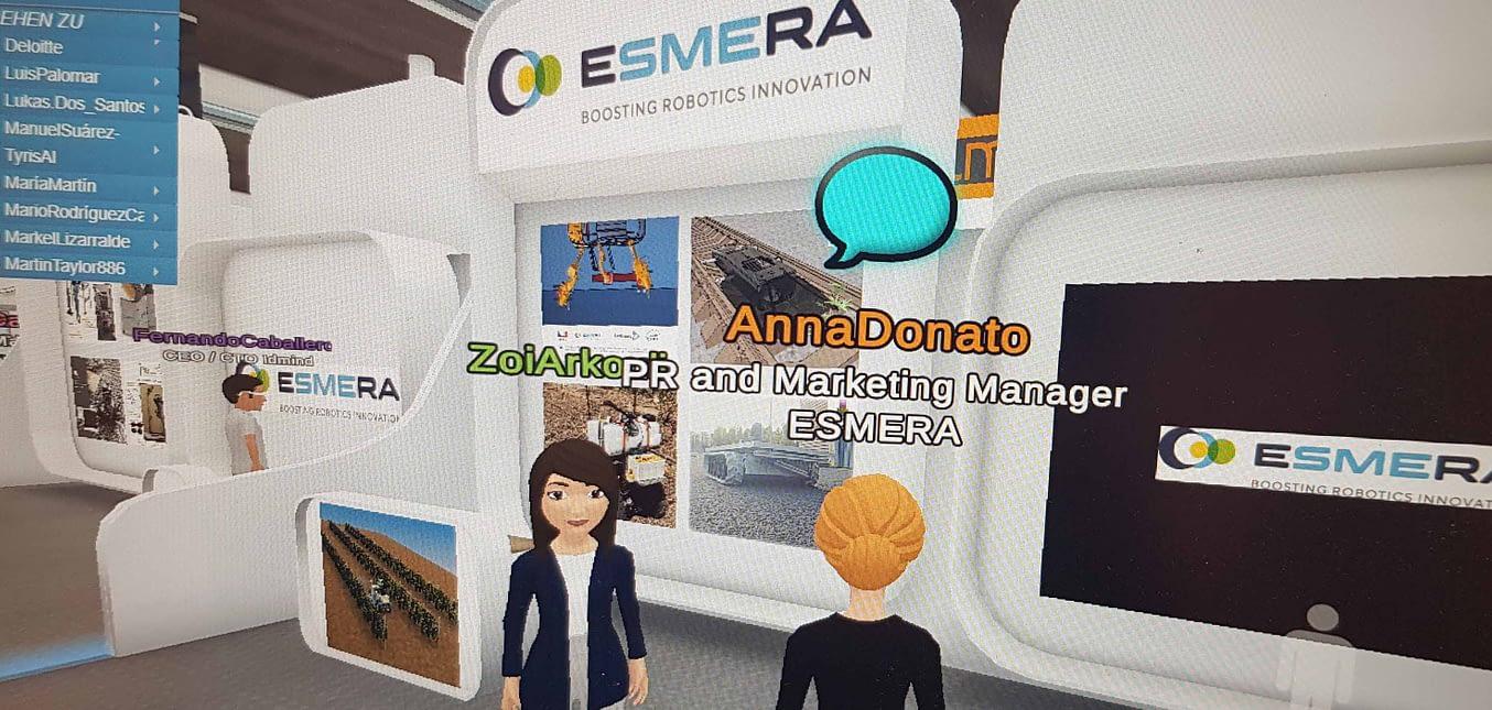 ESMERA at Virtual Global Robot Expo